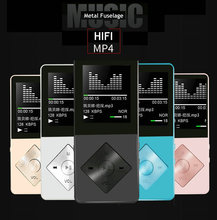 HiFi Metal MP4 Music Player Built-in Speaker 16GB 1.8 Inch Screen Support FM Card with Video Alarm FM Radio E-Book MP3 Player