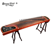 Strong Wind Professional Performance Guzheng Music Instrument 21 Strings With Full Accessories Pattern Flowers High Quality