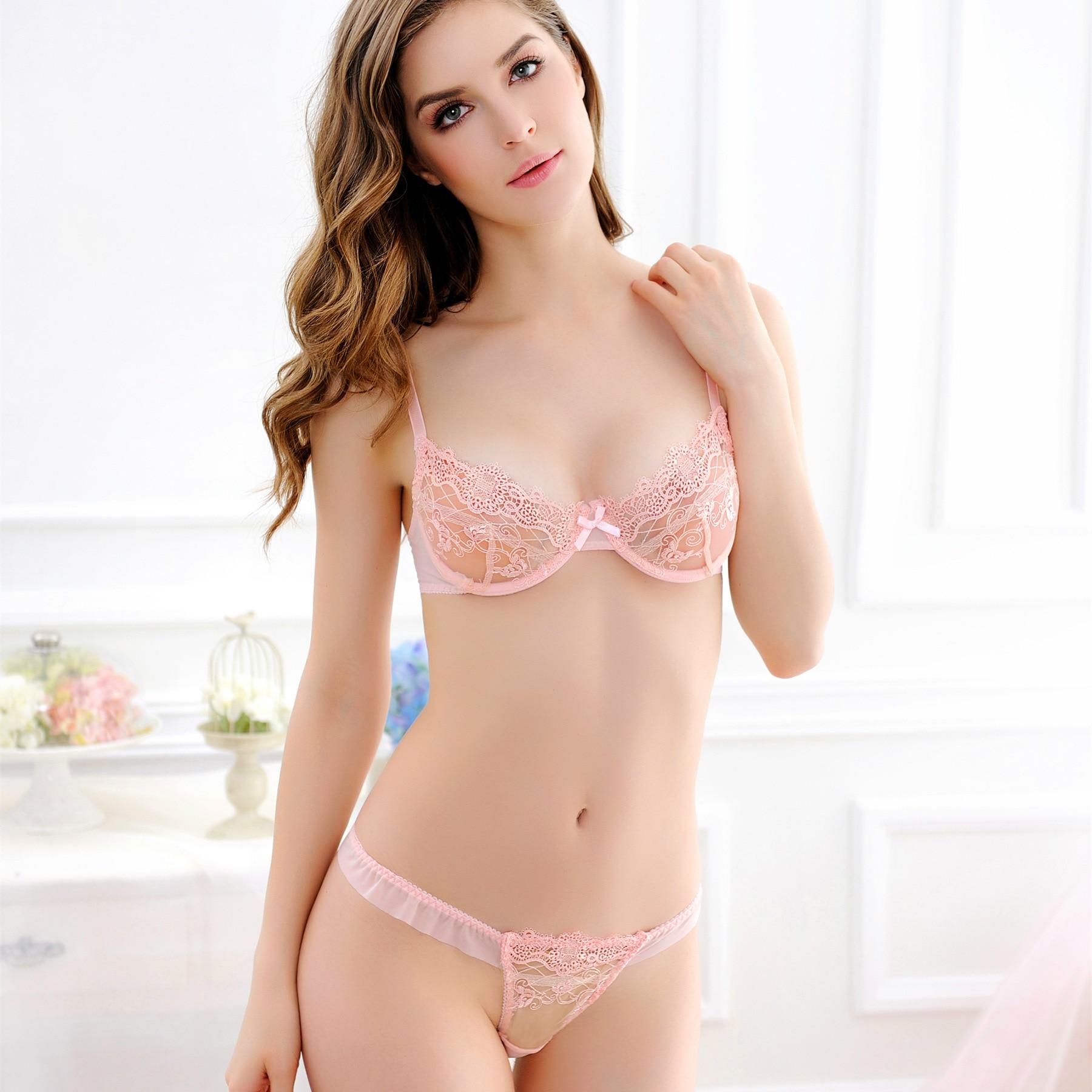 Hot beads seamless bra set sexy lingerie underwear sets for women