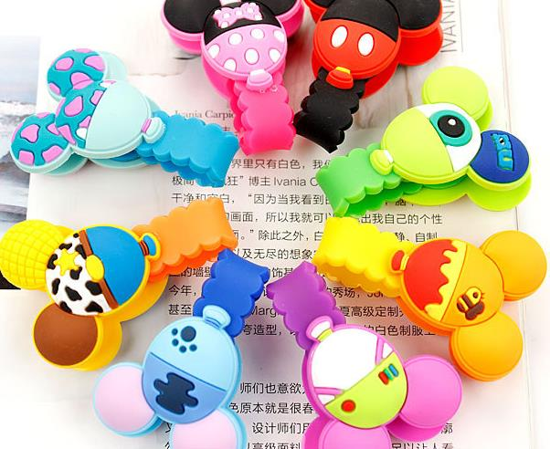 4x Multifunction Silicone Earphone Cord Winder Organizer Cable Holder Clips Gift