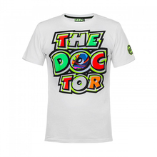 Valentino Rossi VR46 46 The Doctor Motorcycle Moto GP Racing T-Shirt  White