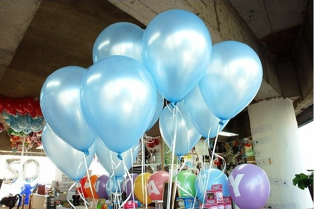 Image 3 - Cheap 50/100pcs 10'' 1.2g Blue&Skyblue Round Shape Latex Pearl Balloon Party Decorate Valentine's Day Birthday Wedding Decoratio-in Ballons & Accessories from Home & Garden