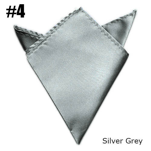 2017 Pocket Square Silver Gray Towel Wedding Satin 24 Colors For Choose