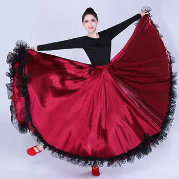 Adult women lady belly dance costumes Spanish bullfighting dance skirt opening dance big swing skirt performance Gypsy wear - DISCOUNT ITEM  38% OFF All Category