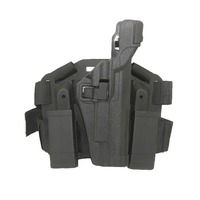 Colt 1911 LV3 Thigh Holster Tactical Leg Holster Gun Airsoft Pistol Holster RH with Magazine Clip mini Flashlight pouch