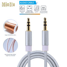 3.5mm Jack Stereo Audio Cable 3.5mm Male to Male Auxiliary Audio Cable for Huawei Honor Pad P9 P8 Lite Honor 8 6X 5C 7 7i 6 Plus