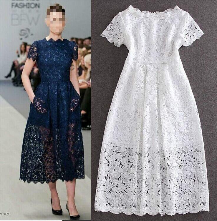 Mode été blanc fleur dentelle grand balayage Maxi robe à manches courtes creux mince élégant bal fête formelle robes de grande taille 3XL
