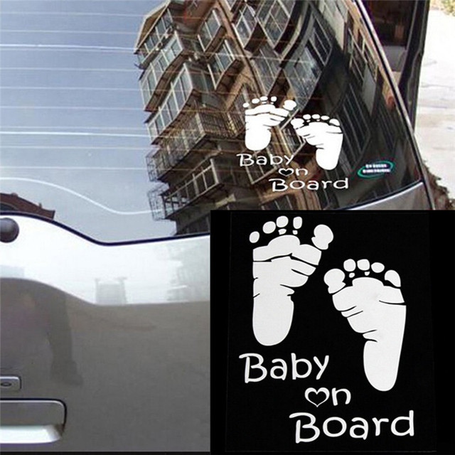 Popular Baby On Board Vinyl Car Graphics Window Vehicle Sticker Decal Decor Auto Dropship 170904