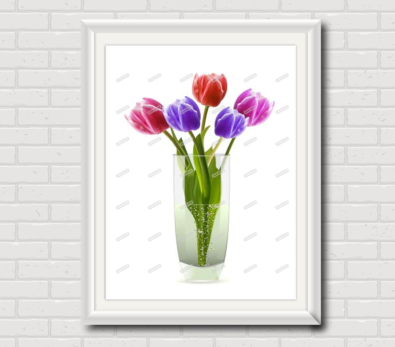 Tulip Canvas Wall Art Print Modern Pictures For Living