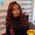 Purple Synthetic Lace Front Wigs Cheap Good Quality Wavy Hair Wigs Synthetic Lace Front Wig Purple Wigs For Black Women