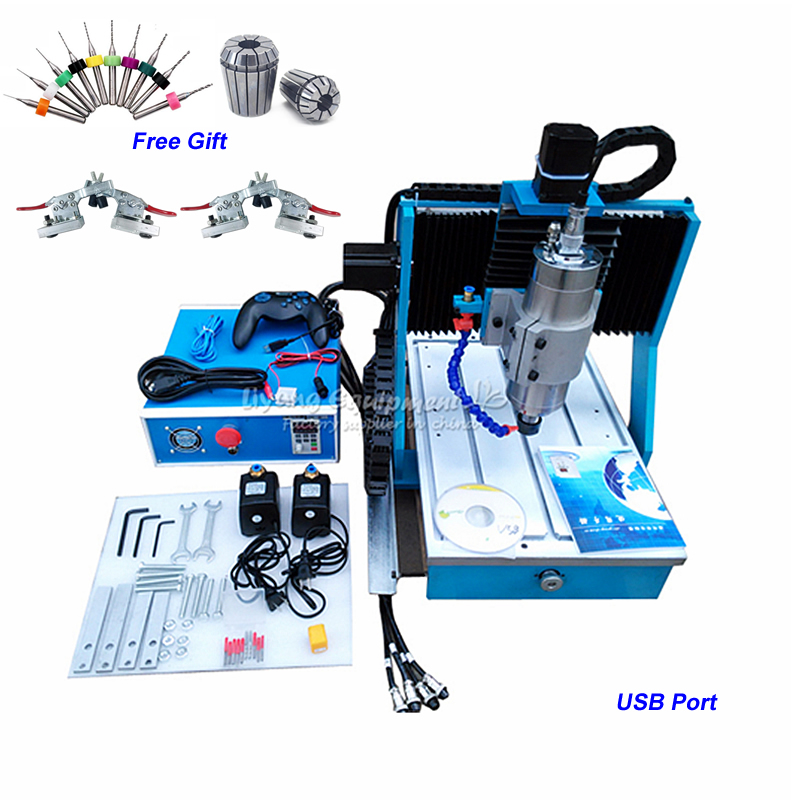 Linear Guide CNC 3040 Mini CNC Metal Milling Machine Ball Screw 1.5KW CNC Router Engraving Machine with 120mm Z-Axis Stroke 4 axis cnc 3040 mini cnc metal milling machine ball screw 800w spindle 3d engraving machine with 130mm z axis stroke