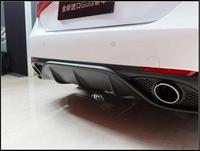 ABS REAR TRUNK LIP SPOILER DIFFUSER EXHAUST BUMPER PROTECTOR COVER FOR 17 18 Alfa Romeo Giulia 2017 2018 BY EMS