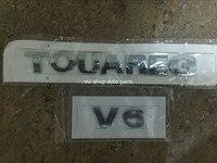 New Oem Quality 1set 2pcs TOUAREG V6 Bright CHROME REAR BADGE Emblem For VW 7L6 853