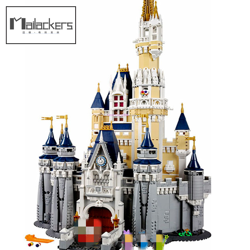 Mailackers Compatible With Cinderella Princess Castle 4080pcs Mickey Donald Duck Blocks Toy friend