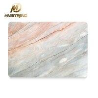 Mimiatrendホットコーラル大理石粒フルボディカバーラップトップステッカー用アップルのmacbook air proの網膜11 13 15インチ保護スキン