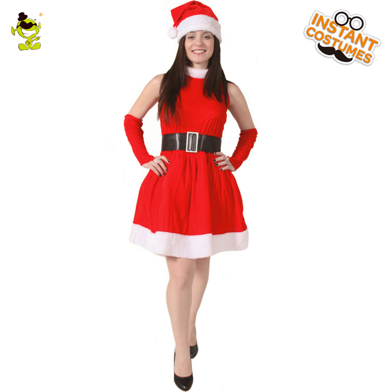 Adult Santa's Helper Costume for Christmas Carnival Role Play Outfits for Women Cosplay Gorgeous Sexy Fancy Short Dress Costumes