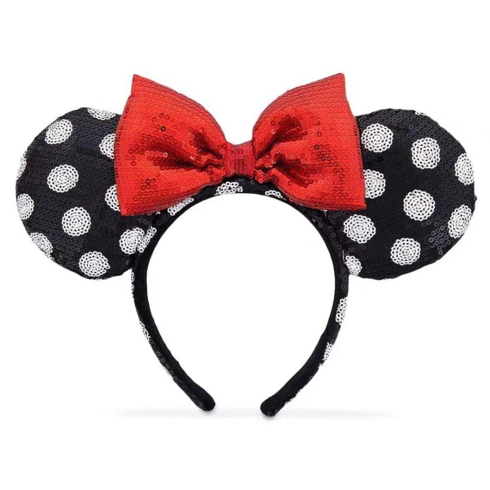 NEW Minnie mickey mouse sequin EARS COSTUME Headband Cosplay Plush  Adult Kids Headband Gift 2018 5f4d588340ed