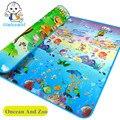 Autorizado auténtica promoción maboshi estera del juego del bebé del océano y zoo beach niño mat niños alfombras bebé de arrastre mat cm-012