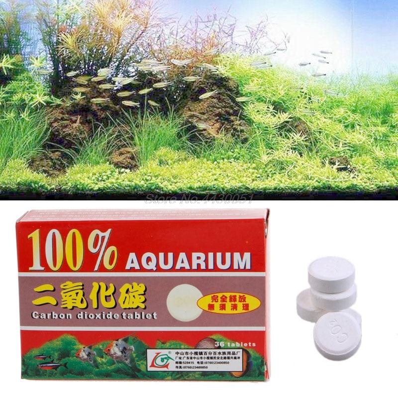 Comprimés de dioxyde de carbone de CO2 de 36 pièces pour l'usine de diffuseur de réservoir de poissons d'aquarium de plantes
