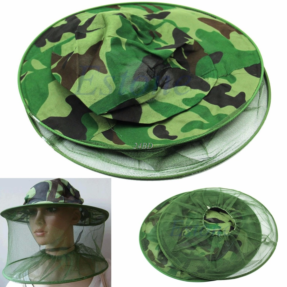 Apparel Accessories Bug Insect Bee Mosquito Resistance Net Mesh Head Face Protector Fish Cap Sun Hat