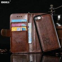 Для iPhone 7 Плюс Случае Роскошный Кожаный PU Магнитный Цветок Кошелек Обложки 2 в 1 Телефон Сумки Случаи для iPhone 6 С Ремешок Fundas