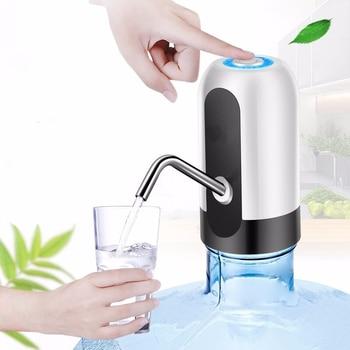 Bomba de agua eléctrica recargable, dispensador inalámbrico de botellas de agua, botellas de beber portátiles, herramientas para deportes/campamento