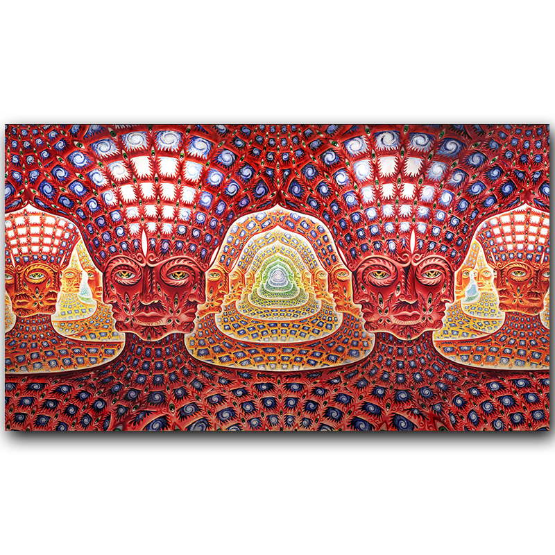 . Oversoul Trippy Psychedelic Abstract Poster Silk Print Painting Wall Art  Picture Home Decor 30x53cm 60x106cm