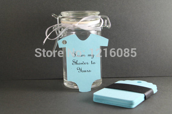 Light blue baby shower tags personalized boy shower favors die light blue baby shower tags personalized boy shower favors die cut baby suit shape tags negle Gallery
