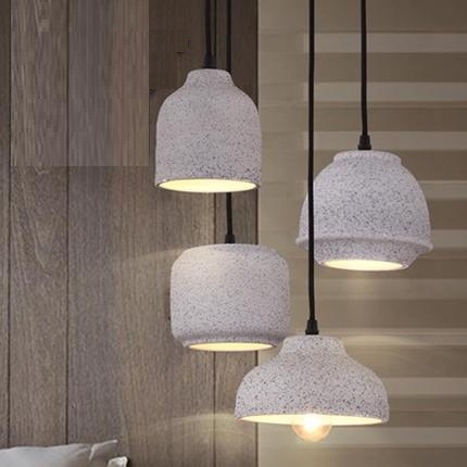 Loft Style Cement Droplight Industrial Vintage Pendant Light Fixtures For Dining Room LED Hanging Lamp Indoor Lighting Lamparas loft style industrial vintage pendant light fixtures for dining room led hanging lamp home lighting art cement droplight