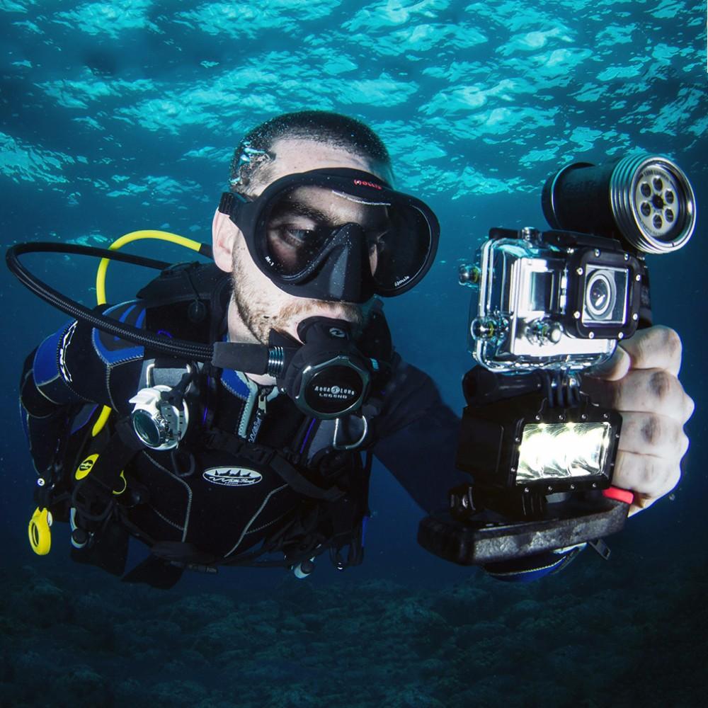 Waterproof LED Flash Video Light Underwater Diving Flash Shoot Lamp For GoPro Hero 5 4 Session 3 SJCAM Xiaomi Yi 4K Accessories (13)