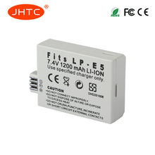 JHTC LP-E5 LPE5 Rechargeable Camera Battery For CANON 450D 500D 1000D KISS X2 X3 F Rebel XS XSi T1i LP-E5 Battery