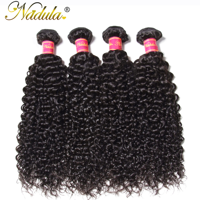 Nadula Hair Malaysian Curly Hair Weave Bundles 8-26inch Can be mixed Non Remy Hair 100% Human Hair Natural Color Can Be Dyed