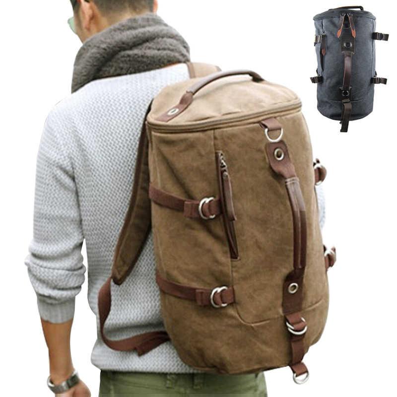 2cf1192a16 Large capacity man travel bag mountaineering backpack men bags canvas  bucket shoulder bag YS-314