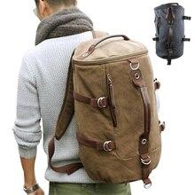 Große kapazität mann reisetasche bergsteigen rucksack männer taschen leinwand eimer umhängetasche YS-314
