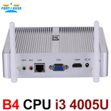 Дешевый mini pc windows 10 barebone компьютер ddr3l core i3 4005u 1.7 ГГц hd 4400 графика 4 К htpc wifi hdmi vga