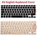 2 unids eu euro inglés teclado cubierta de piel para macbook air Pro Retina 13 15 Portátil de Silicona Teclado Portátil Protector Para iMac
