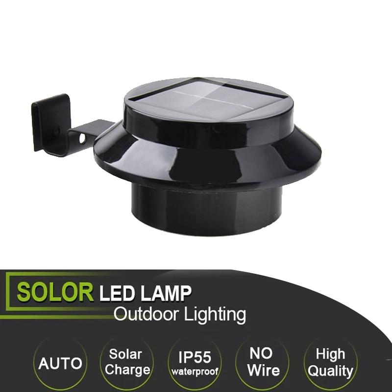 3 LED Solar Powered Outdoor Lights Lamp Fence Gutter Roof Yard Wall Garden Light Outdoor Lighting Led Solar Creations Path Light