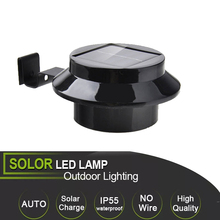 3 LED Solar Powered Outdoor Lights Lamp Fence Gutter Roof Yard Wall Garden light Lighting Led Creations Path Light