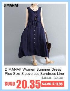 8254f130ba3 DIMANAF Women Dress Summer Plus Size Femme Sundress Sleeveless Linen ...