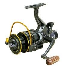 Duplo design de freio carretel de pesca carpa super forte alimentador de pesca molinete tipo roda de fiação pesca mg