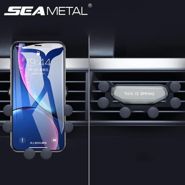 Mise à niveau modèle support de téléphone de voiture support de gravité Gadget de voiture antidérapant évent de voiture Amout téléphones accessoires de voiture Automobile