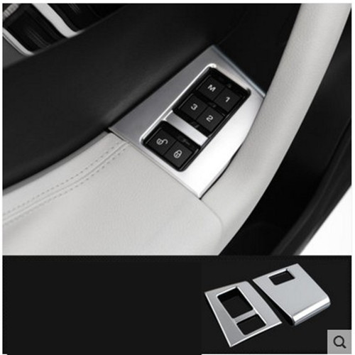 ABS Хром двери автомобиля сиденье кнопку памяти Накладка для Jaguar F-темп f темп 2016 автомобилей Стайлинг Аксессуары