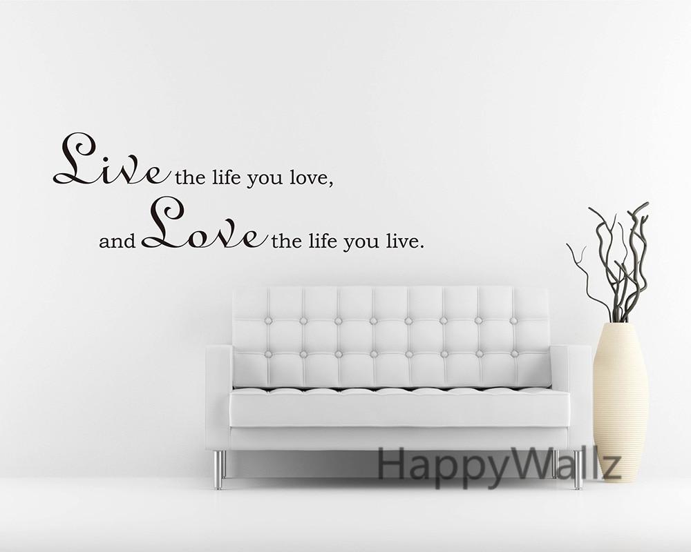 Motivational Leven Citaat Muursticker Leef Het Leven U Liefde Liefde