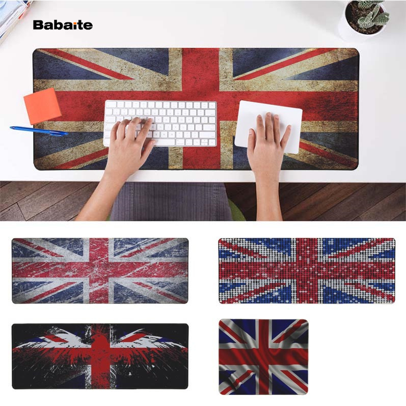 Babaite  UK Flag Office Mice Gamer Soft Mouse Pad Speed/Control Version Large Gaming Mouse Pad