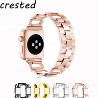 CRESTED New Sport Stainless Steel Strap Band For Apple Watch Iwatch 3 2 1 42mm 38mm