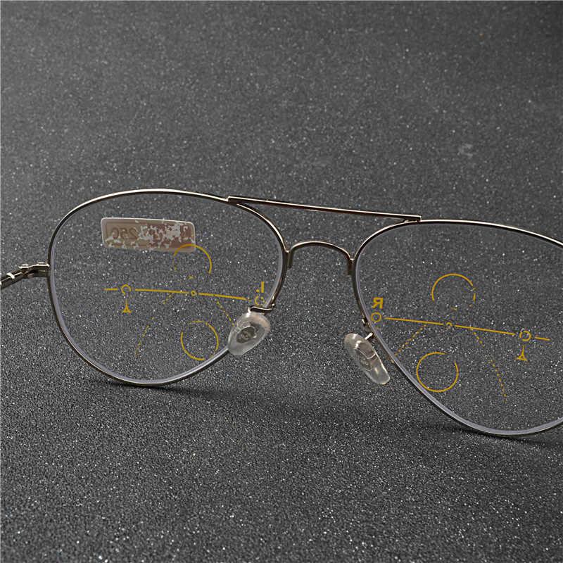 76046ff64d7 ... Ultralight Rimless Eyewear Smart zoom Titanium Progressive Multifocal Reading  Glasses Men Women Presbyopia Hyperopia FML ...