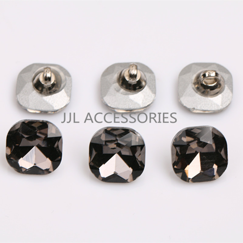 Home & Garden Free Shipping 200pcs Clear 12mm Octangle Double Holes Pointed Back Acrylic Diamond Apparel Sewing Buttons Crafts Diy Rhinestone