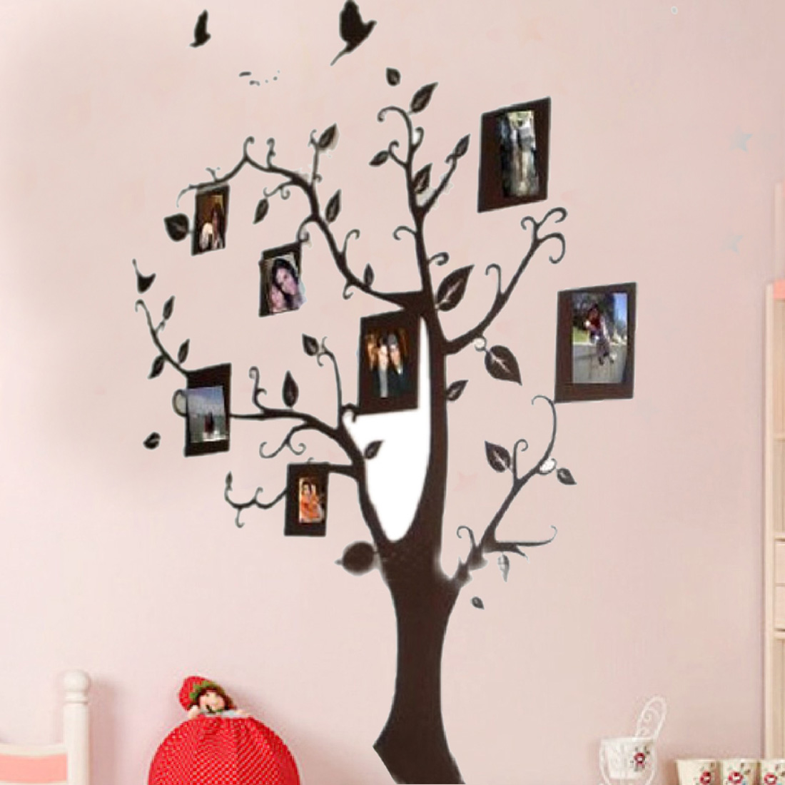 compare prices on wall adhesive stickers online shopping buy low new large size diy photo tree frame pvc wall decals adhesive wall stickers mural art home