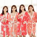 Free shipping Fall/Winter Sexy Bathrobe For Women Robe/Gown Sets comfortable casual pajamas homewear Robe Long-sleeved sleepwear
