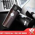 Keelorn Venta caliente de acero inoxidable de doble pared termo de café taza tazas térmica botella de 500 ml de Thermocup de frasco de vacío tazas